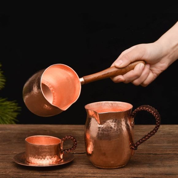 Handmade Hammered Copper Coffee/Tea Cup- Set Available - All About Coffee n Tea