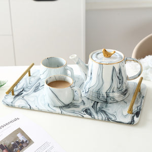 Marble Ceramic Tea and Coffee Service Set - All About Coffee n Tea
