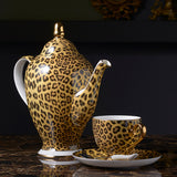 Leopard Print Bone China Coffee/Tea Set in Luxury Porcelain - All About Coffee n Tea