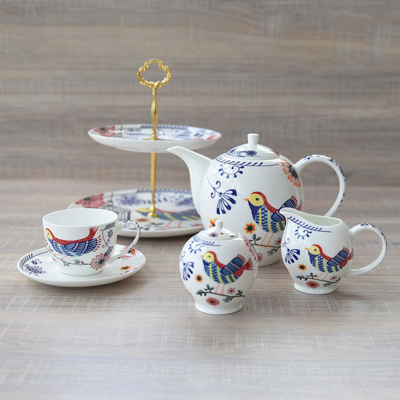 Sweet Bird Coffee Set in Ceramic Bone China - All About Coffee n Tea