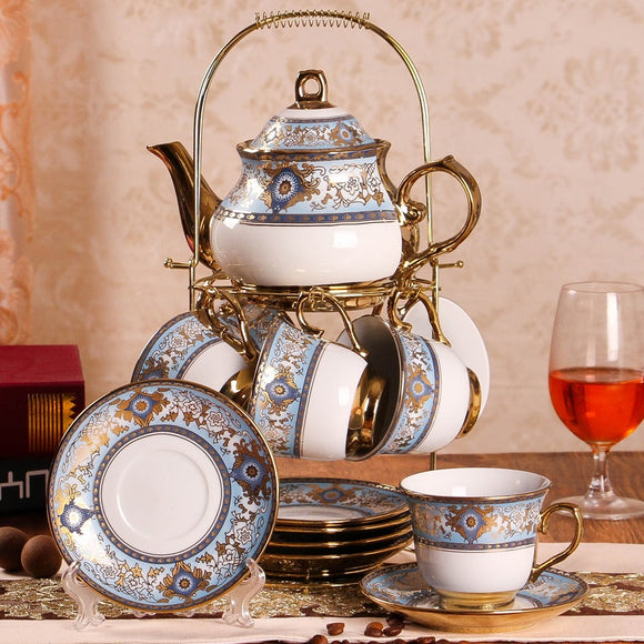 British Afternoon Tea Set 14 Piece with Display - All About Coffee n Tea
