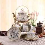 British Afternoon Tea Set 14 Piece with Display- Only 40 Remaining!! - All About Coffee n Tea