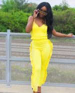 Second Look Yellow Ruffle Set