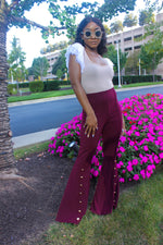 Flared Wine Pants