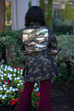 Camo Sequin Pleated Jacket