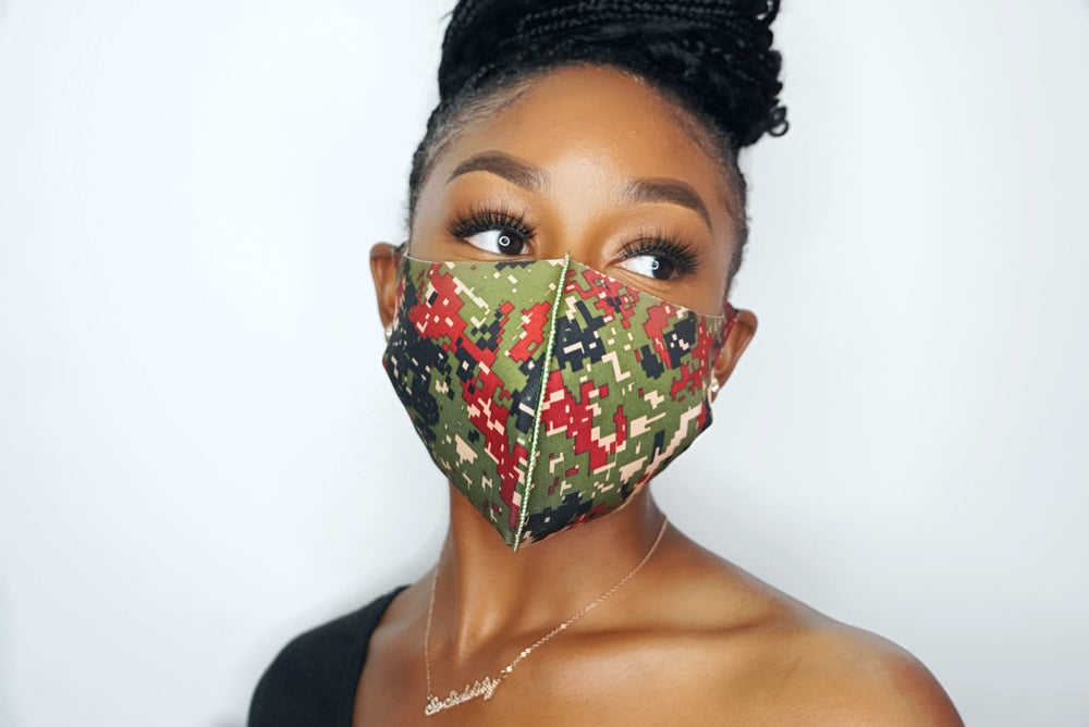 Data Driven Geo Masks - Green (UNISEX)