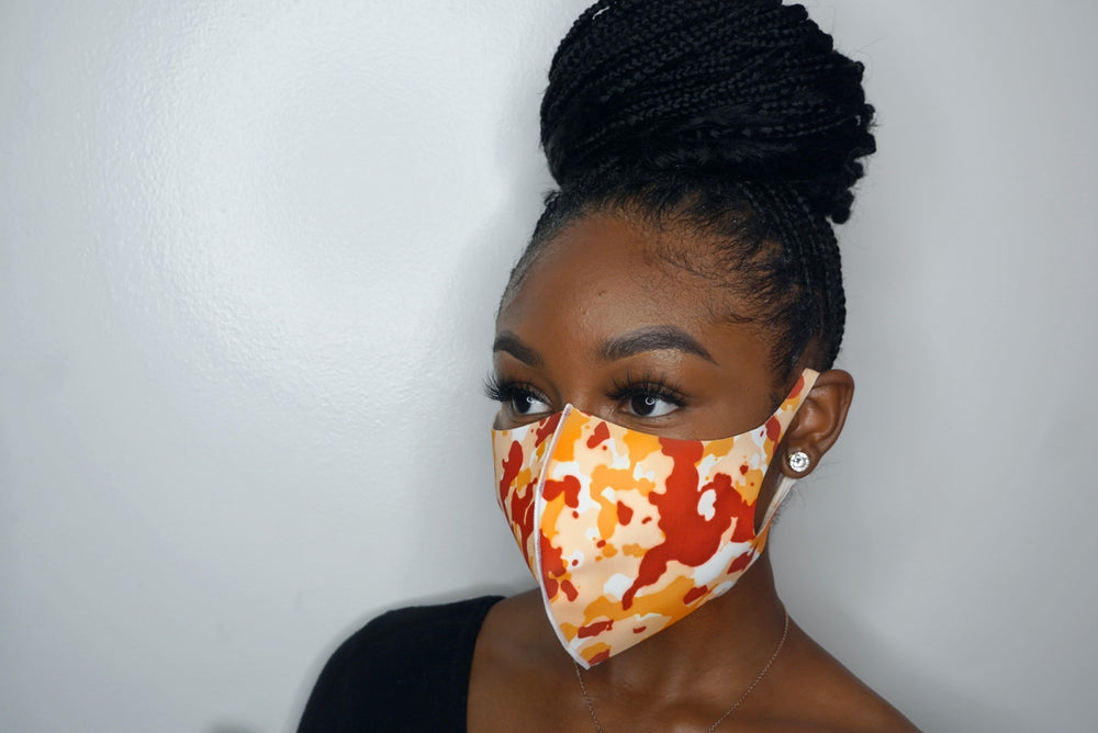 Camo Orange Masks (UNISEX)