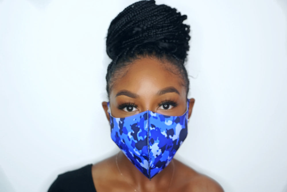 Camo Blue Masks (UNISEX)