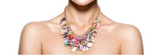 Multi Colored Swang Shells Necklace