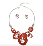 Red Multi Circled Necklace