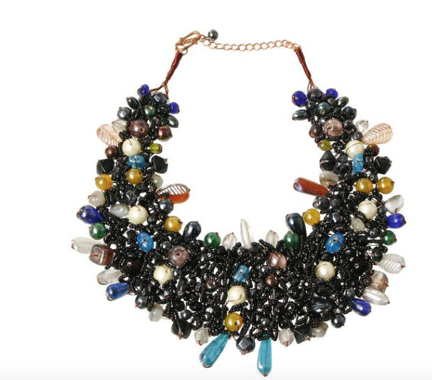 Dark Multi Colored Beaded Necklace