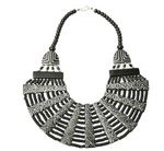 Black and White Tribal Design Necklace