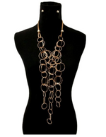 Round Gold Link Necklace
