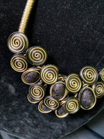 Cord Spiral Gold Necklace