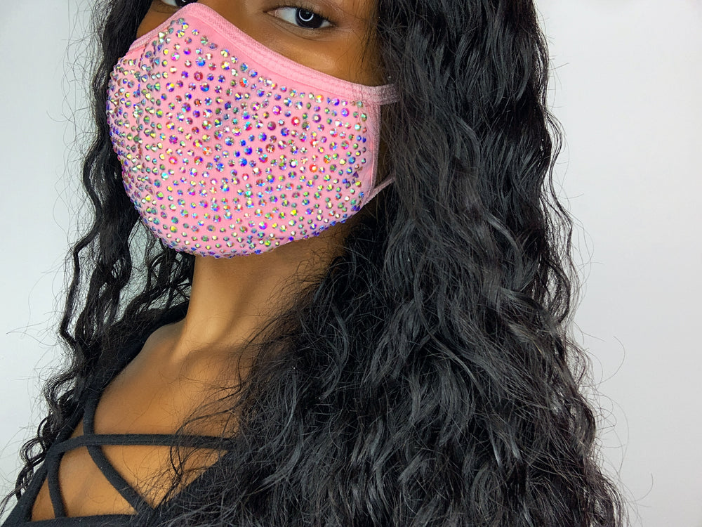 Glitz Fairy Light Pink Masks