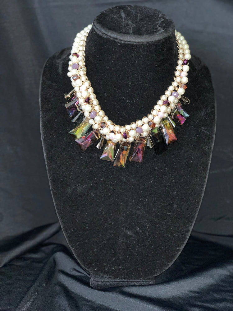 Colorful Crystal Drop Necklace