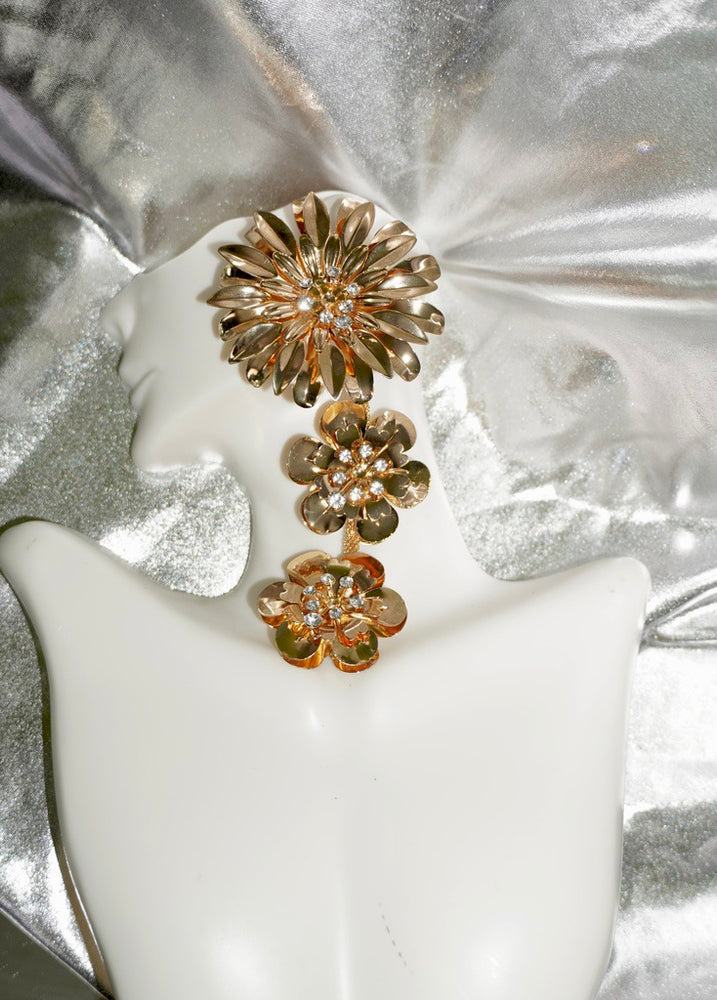 Gold Flower Power Earrings
