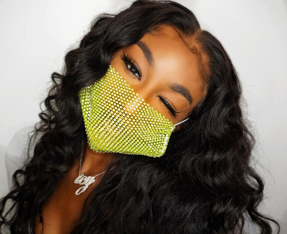 Dazzle Spaz Lime Masks