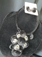 Black Velvet Coil Necklace