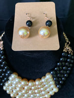 Colored Beaded Pearl Necklace