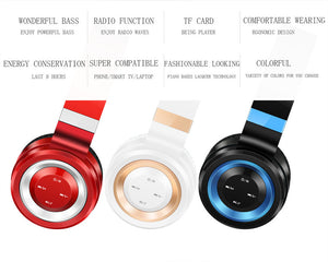 Sound Intone P6 Bluetooth Headphone With Mic Wireless Headphones Support TF Card FM Radio - Sgpshop17