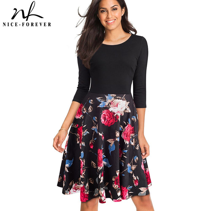 Autum Floral Casual Stylish Elegant Print Dress