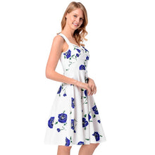 2018 Women Casual Sexy Floral Print Sleeveless Tank Dress