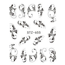 1 Sheet Black Necklace Jewelry Design Water Transfer Nail Decals/Sticker - Sgpshop17