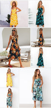 2018 Vintage Sexy Bohemian Floral Tunic Beach Dress