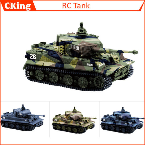 14CH 1:72 RC Mini Remote Control Tiger Tank, -  Best Christmas Gift for Kids - Sgpshop17