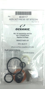 Oceanic pre'95 First Stage DIN service kit 40.6117