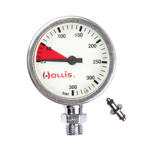 Hollis Metal Pressure Gauge PSI or Bar