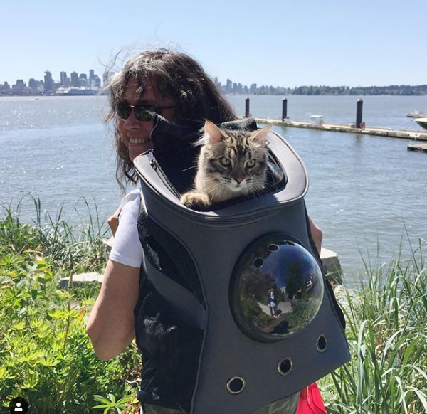 Ozzy and Kipling: Your Cat Backpack Featured Feline