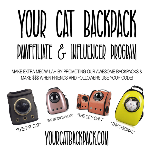 CAT BACKPACK PAWFFILIATES