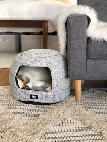 The Meowbile Home Convertible Cat Bed & Cave