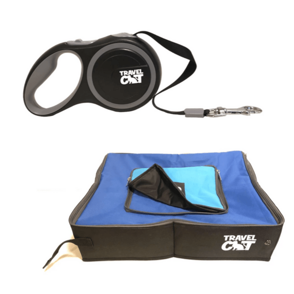 "Image of ""The Gotta Go"" Travel Litter Box and Retractable Leash"