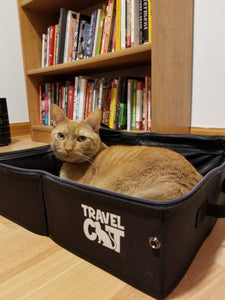 """The Porta-Pawty"" Travel Litter Box - Portable Bathroom for Cats"