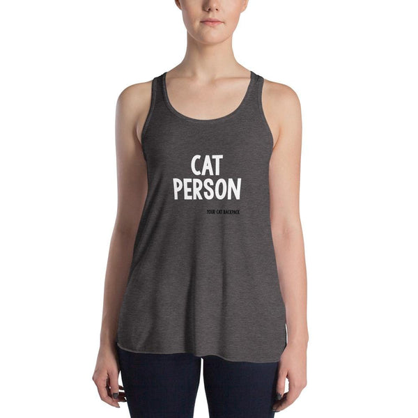 Cat Person Women's Flowy Racerback Tank