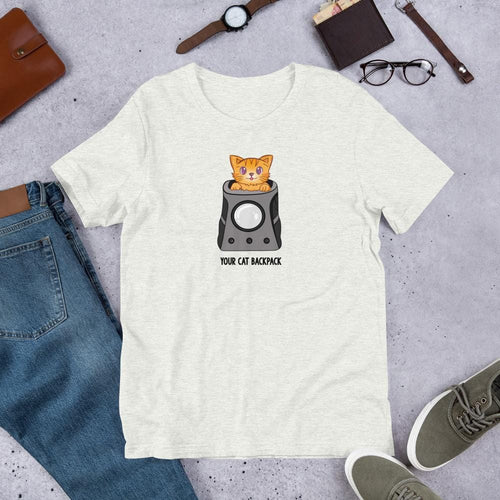 Your Cat Backpack Short-Sleeve Unisex T-Shirt