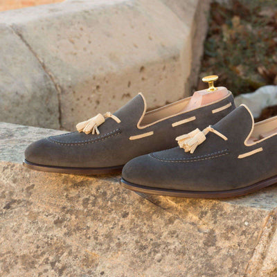 Loafer Grey Lux Suede - Dapper Lane