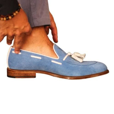 Loafer TURQUOISE SUEDE - Dapper Lane