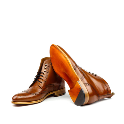 Military Brogue - Cognac Box - Dapper Lane