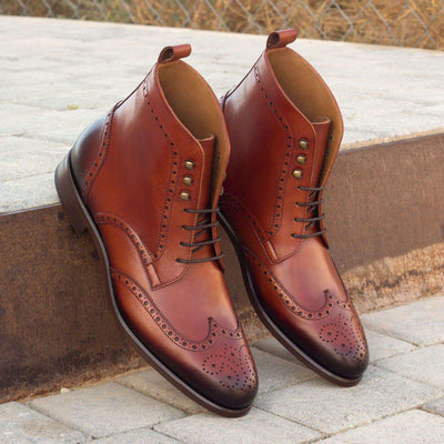 Military Brogue - Cognac Calf - Dapper Lane