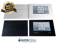 "InstaVizion Blank Video Brochure | 7"" HD LCD Video Screen with Pocket & Business Card Slits 