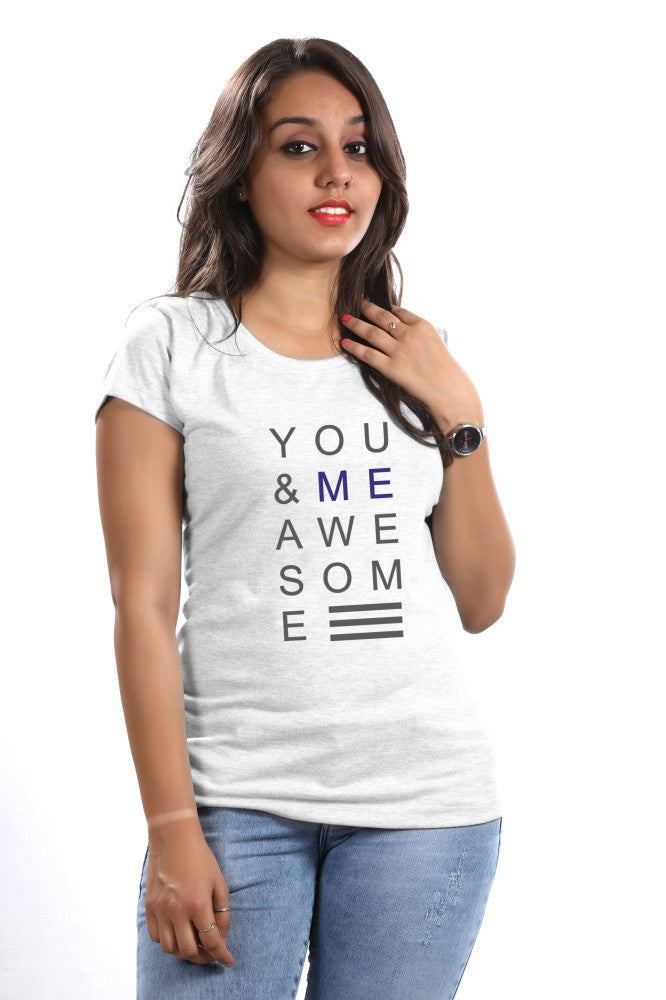 You & Me Awesome Woman Tees