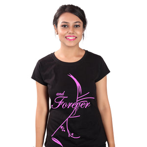 women wearing family t shirt