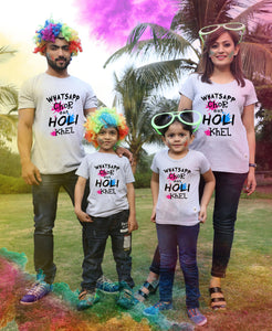 What's up chor holi khel matching grey t-shirt