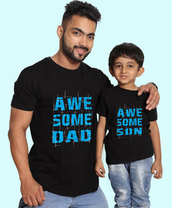 AWESOME DAD AND SON MATCHING TEES