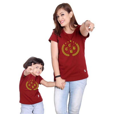 Maroon Mom & Daughter Tshirt