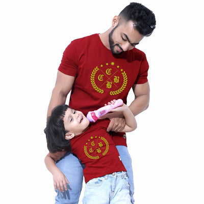 Maroon Dad & Daughter Tshirt